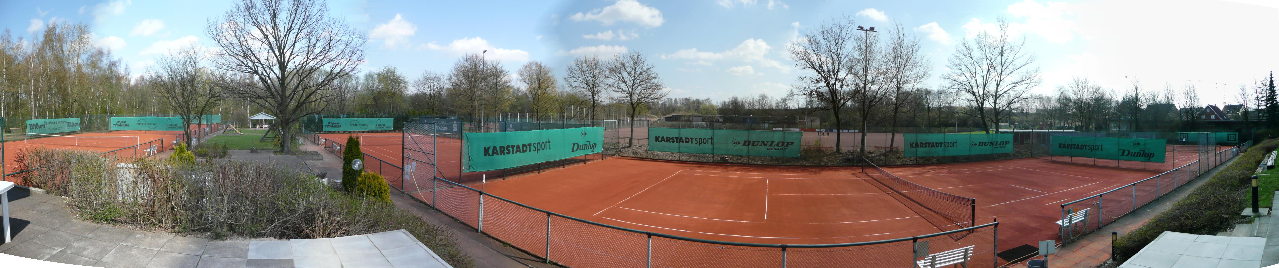 Panoramaansicht der Plätze 1-4