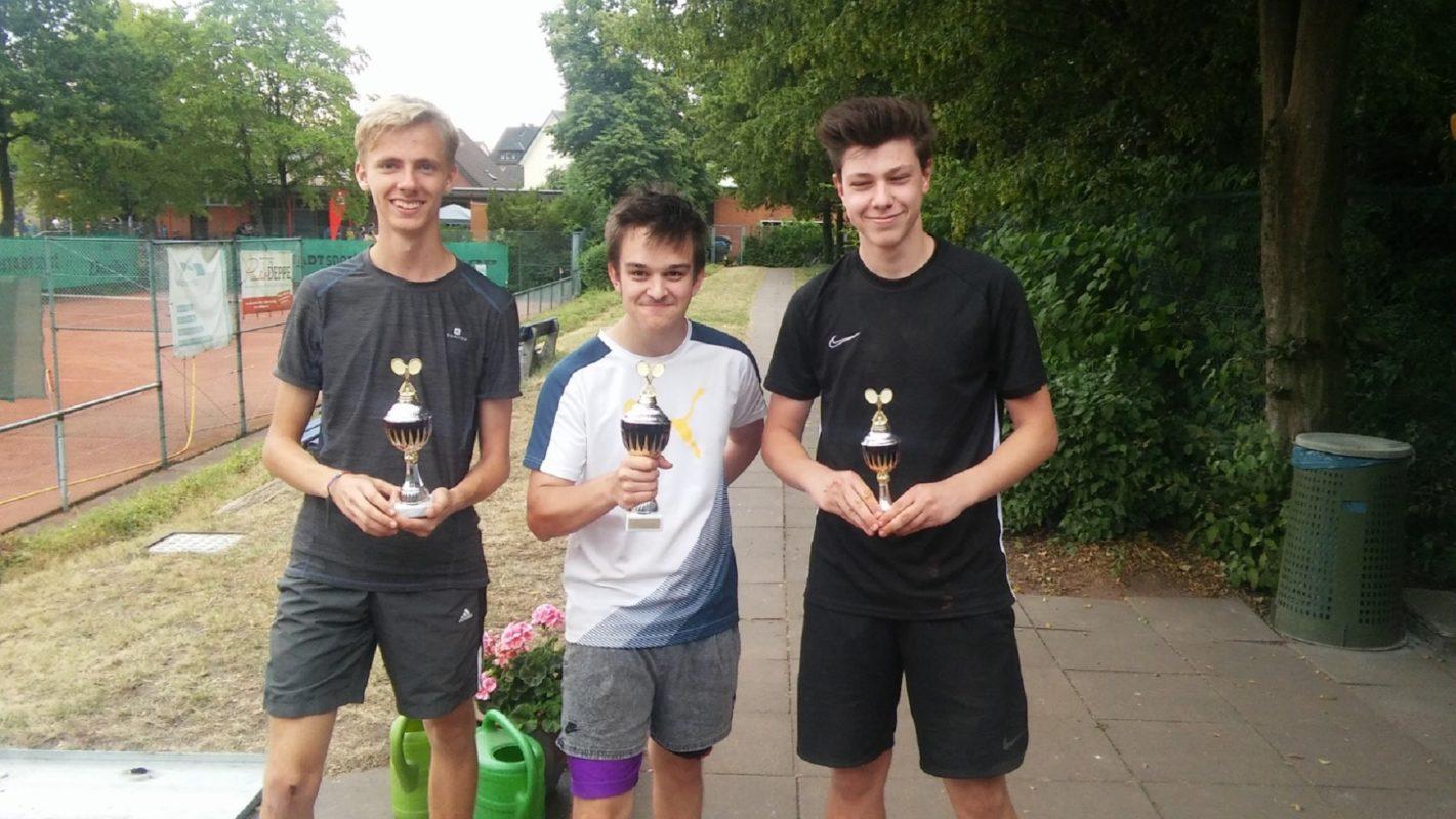 Siegerfoto U18 Junioren (v.l.n.r.: Tim, Silas, Cedric)