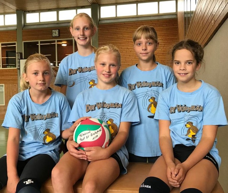 Von links nach rechts: Sarah Kleine-Beek, Carlotta Grun, Lena Hillebrand, Maliya Borau, Charlotte Standke