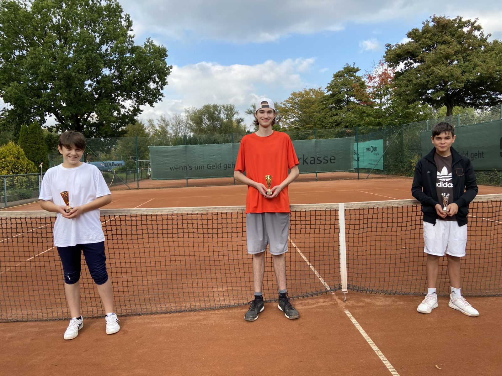 U15 Junioren: Gerret, Max und Leopold (von links nach rechts)